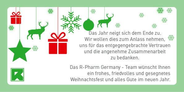 Frohe Weihnachten Und Alles Gute Im Neuen Jahr.Frohe Weihnachten Und Alles Gute Im Neuen Jahr R Pharm Germany Gmbh